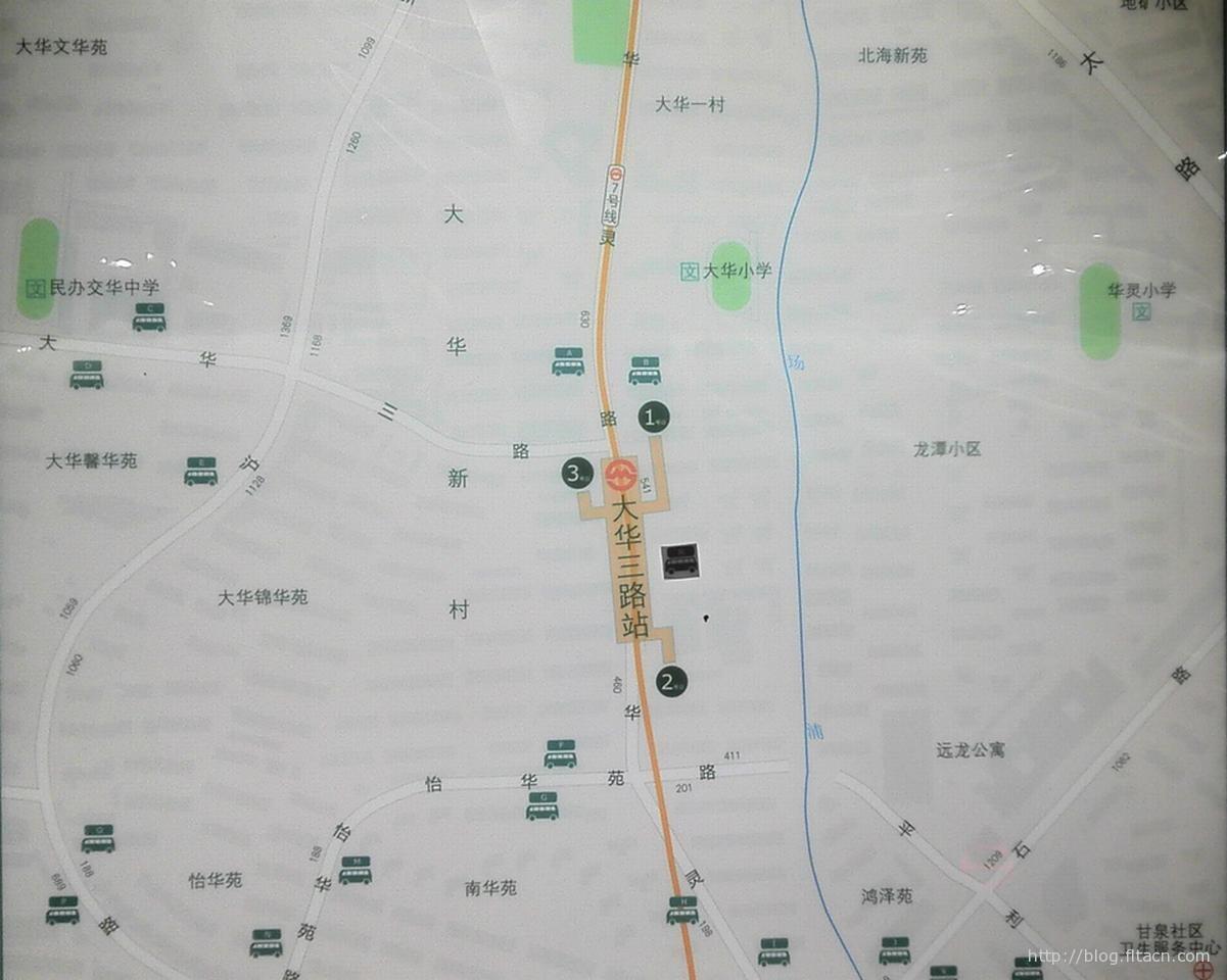 地铁七号线大华三路站周边地图
