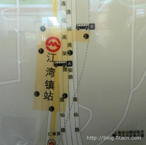 地铁三号线江湾镇站周边