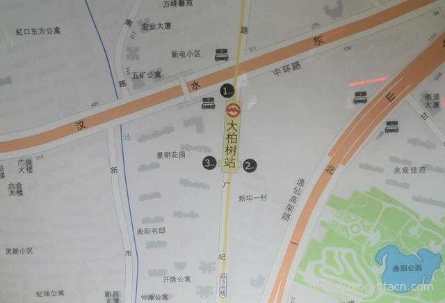 三号线大柏树站周边地图