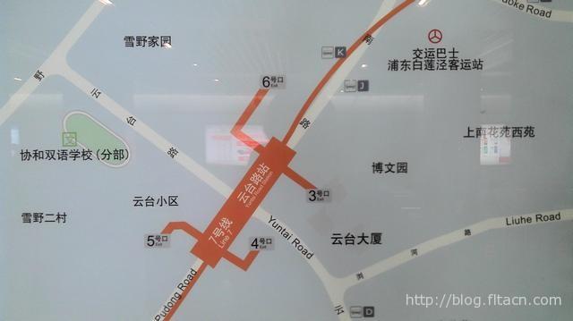 地铁七号线云台路站周边示意图